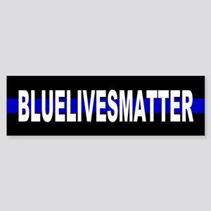 Blue Lives Matter Thin Line Strip Sticker (Bumper)
