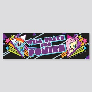 MLP Will Brake For Ponies Sticker (Bumper)