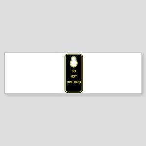 Door Knob Sign Bumper Sticker