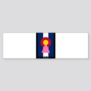 Colorado Woman Logo (Stars) Bumper Sticker