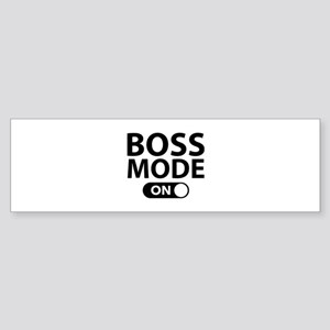 Boss Mode On Sticker (Bumper)