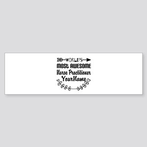 World's Most Awesome Nurse Pract Sticker (Bumper)