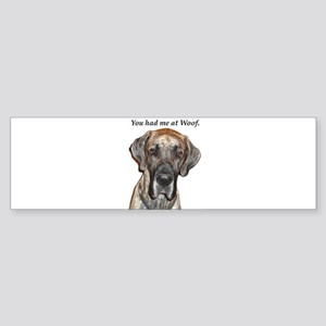 Great Dane Jamie You Had Me a Bumper Sticker