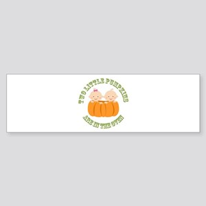 Two Little Pumpkins - Boy, Girl Bumper Sticker