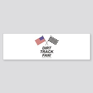 Dirt Track Fan Bumper Sticker