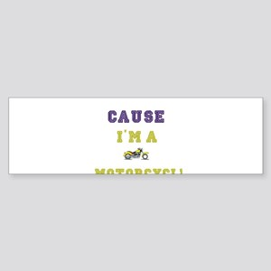 Motorcycle Man Motorcycle Gift Bumper Sticker