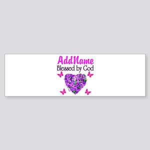 BLESSED BY GOD Sticker (Bumper)