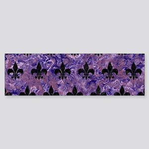 ROYAL1 BLACK MARBLE & PURPLE MARB Sticker (Bumper)