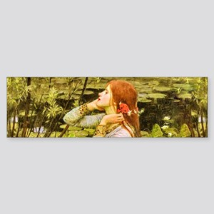 Waterhouse: Ophelia (1894) Sticker (Bumper)