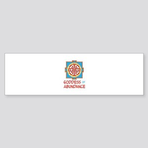 Goddess Of ABUNDANCE Bumper Sticker