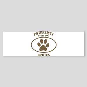 Pawperty of BRUTUS Bumper Sticker