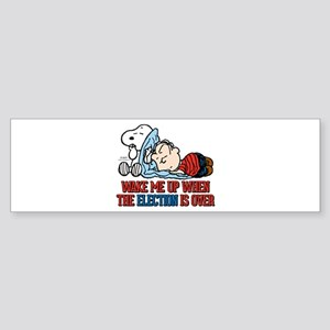 Snoopy - Wake Me Up Sticker (Bumper)