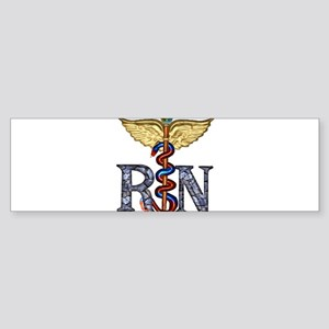 RN Caduceus Sticker (Bumper)