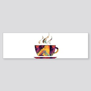 Colorful Cup of Coffee copy Bumper Sticker