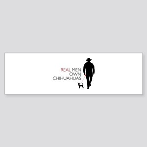 Real Men Own Chihuahuas Sticker (Bumper)