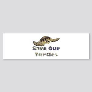 save-our-turtles Sticker (Bumper)