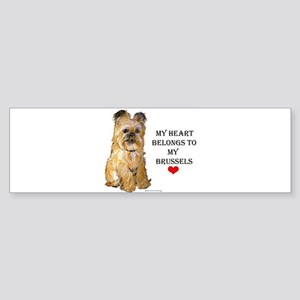 Brussels Griffon Heart Bumper Sticker