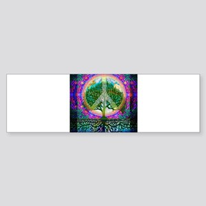 Tree of Life World Peace Bumper Sticker