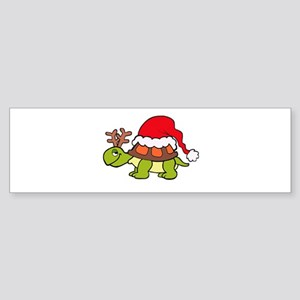 Turtle Christmas Bumper Sticker
