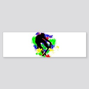 Graffiti Paint Splotches Skateboard Bumper Sticker