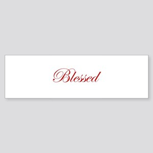 Red Blessed Bumper Sticker