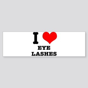 I Heart (Love) Eyelashes Sticker (Bumper)