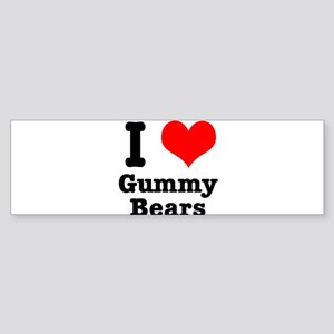 I Heart (Love) Gummy Bears Sticker (Bumper)