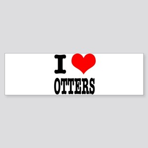 I Heart (Love) Otters Sticker (Bumper)