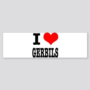 I Heart (Love) Gerbils Sticker (Bumper)