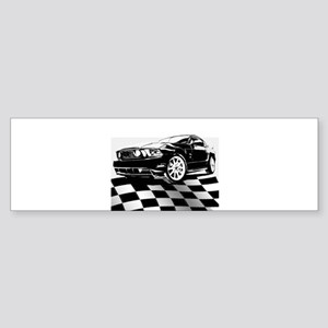 2011 Mustang Flag Sticker (Bumper)