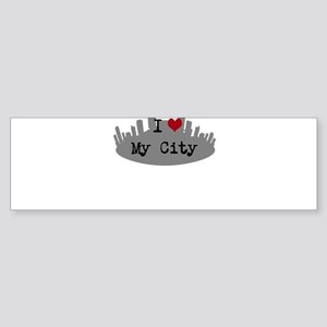 Customizable I Heart City Bumper Sticker
