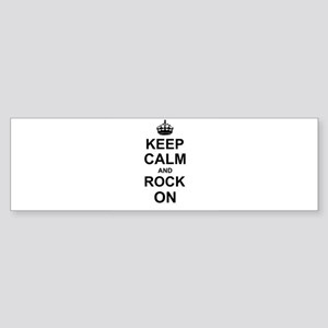 Keep Calm and Rock on Bumper Sticker