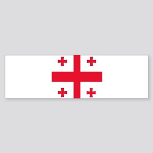 Flag of Georgia Bumper Sticker