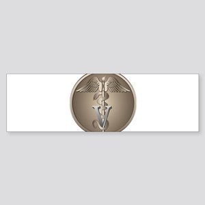 Veterinary Caduceus Sticker (Bumper)