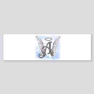 Letter A Monogram Bumper Sticker