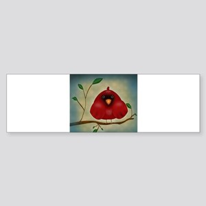 Red Bird Cardinal Bumper Sticker