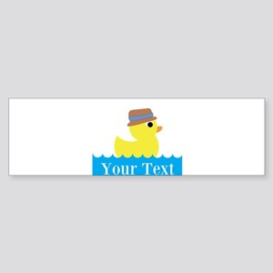 Personalizable Rubber Duck Bumper Sticker