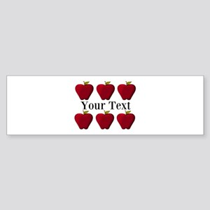 Personalizable Red Apples Bumper Sticker