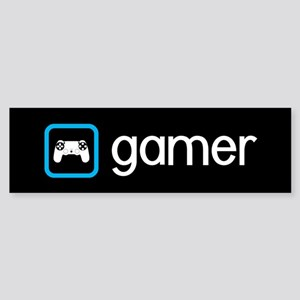 Gamer (Blue) Sticker (Bumper)