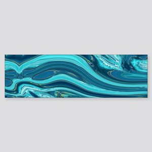 summer beach turquoise waves Bumper Sticker