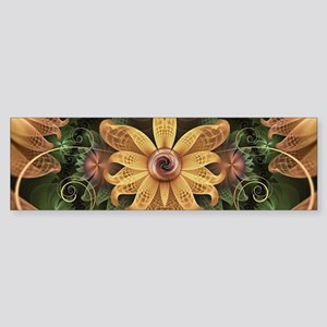 Beautiful Filigree Oxidized Copper Bumper Sticker