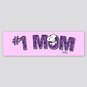 Snoopy - #1 Mom Full Bleed Bumper Sticker