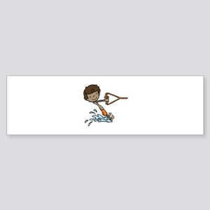 Barefoot Ski Boy Bumper Sticker