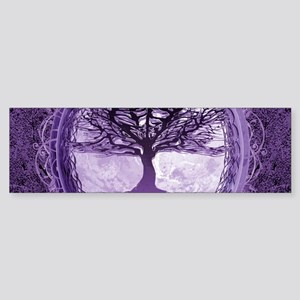 Tree of Life in Purple Bumper Sticker