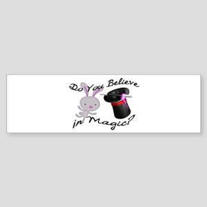 Do You Believe In Magic Top Hat & Rabbit Sticker (