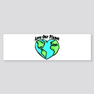 Love Our Planet Bumper Sticker
