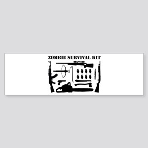 Zombie Survival Kit Sticker (Bumper)