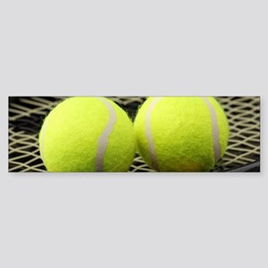 Tennis Balls And Racquet Bumper Sticker