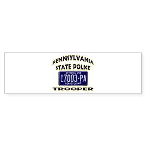 Pennsylvania State Police Sticker (Bumper)