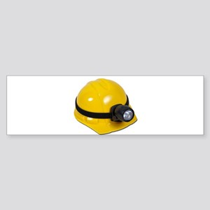 Hard Hat with Lamp Sticker (Bumper)